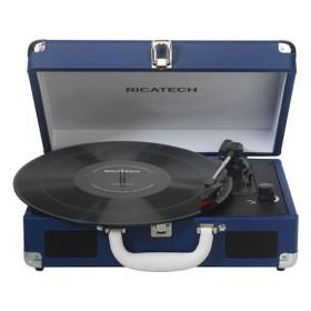 Портативный виниловый проигрыватель Ricatech RTT68 Blue