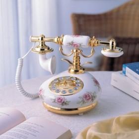 "Ретро-телефон ""Чайная роза"""