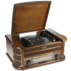 Музыкальный центр-ретро. Функции: винил, AM/FM, CD, аудио, USB 50*35*22см